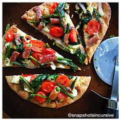 Spinach Prosciutto Flatbread