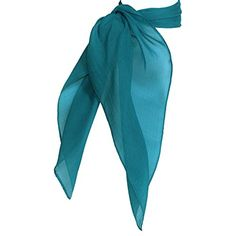 "27"" X 27"" Jumbo Size Bandana Neck 50s Chiffon Large Square Scarf ** You can get additional details at the image link. (This is an affiliate link) #Accessories"