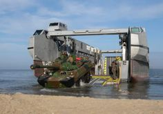 L-Cat in beaching mode, the platform is lowered to add buoyance and to reduce the draft. - Image - Naval Technology