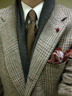 lovely mix of textures , we are always cutting new jackets at Rhodes-Wood, very similar to this delightful look