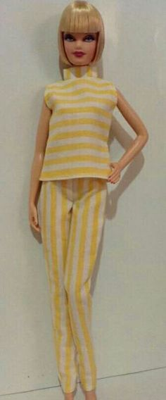 BArbie yellow stripes