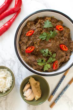 can find indische gerechten and more on our Indian Food Recipes, Asian Recipes, Healthy Recipes, Malaysian Food, Caribbean Recipes, Indonesian Food, Arabic Food, Food Hacks, Food Inspiration