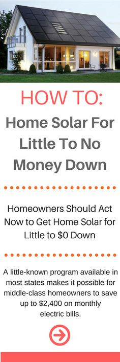 Attractive U.S. Launches No Cost Solar Program For Middle Class Homeowners | House,  Household And Cabin