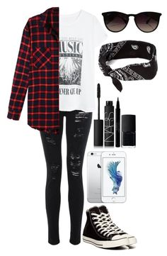 """Untitled #225"" by mathilda96 ❤ liked on Polyvore featuring Ray-Ban, MANGO, Converse, CB2, LE3NO, claire's, NARS Cosmetics and Sisley"