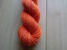 Handspun yarn  Wensleydale wool 2ply 108m/103g