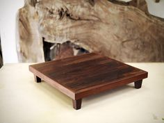 Hand made, custom built Japanese Tea Table by Nick Offerman. Crafted with Cocobolo Wood and Tung Oil Finish. Made in USA.