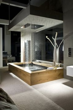 dream bathrooms Today we select 5 Modern Bathroom Design to 2018 that you'll fall in love with. We can have environments with modern but eccentric styles wich will differenciat Dream Bathrooms, Beautiful Bathrooms, Luxury Bathrooms, Modern Bathrooms, Spa Bathrooms, Master Bathrooms, Bathroom Mirrors, Bathroom Cabinets, Fancy Bathrooms