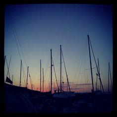 Sunset in Çeşme marina.