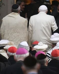 According to Jewish Law the men should cover their head during prayers.A yarmulke (also called a skullcap or by its Hebrew name, kippah) is a small, round head covering worn by Jews during prayer and by some Jews at all times.