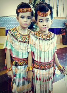 two little girls in traditional dress of Toraja
