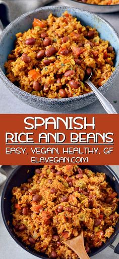 Spanish Rice And Beans (Easy Recipe) – – You are in the right place about simple pasta recipes Here we offer you the most beautiful pictures about the pasta recipes you are looking for. When you examine the Spanish Rice And Beans (Easy Recipe) – – … Healthy Food Recipes, Easy Rice Recipes, Gluten Free Recipes For Dinner, Healthy Dinner Recipes, Easy Rice And Beans Recipe, Gluten Free Dairy Free Vegetarian Recipes, Rice And Beans Recipe Vegetarian, Easy Comfort Food Recipes, Vegetarian Rice Dishes