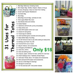 Thirty One Bag Ideas for Thermal Totes Thirty One Uses, My Thirty One, Thirty One Gifts, Thirty One Organization, Organizing, School Organization, Organization Hacks, Bible Bag, 31 Party