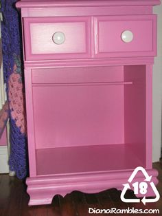 "Diana Rambles: Nightstand Turned 18"" Doll Closet Tutorial"