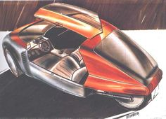 Volkswagen Scooter, 1986 - Design sketch