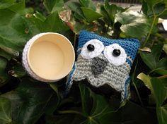 HaakYdee: Gehaakt wijs uiltje (cadeudoosje) / Crocheted owl (gift box)