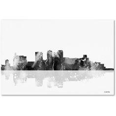 Trademark Fine Art Birmingham Alabama Skyline BG-1 inch Canvas Art by Marlene Watson, Size: 22 x 32, Multicolor