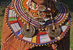 Africa | The finery worn by a married Maasai woman. Kenya | © Nigel Pavitt
