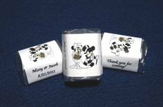Image detail for -120 Mickey & Minnie Mouse Wedding Nugget Candy Wrappers Personalized ...