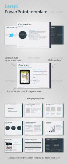 Lorem PowerPoint template - Business Powerpoint Templates