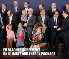 The EU Council President Herman Van Rompuy poses with family and #EU leaders at a Brussels summit. He announced an agreement to reduce CO2 emissions and make #renewableenergy part of total #energy production by 2030  http://www.abo.net/en_IT/pages/visuals.shtml?visual_on=yes&databid=2320608