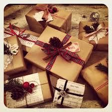 wrapping with brown paper