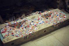 Originálne drevené umývadla s keramickou mozaikou 29