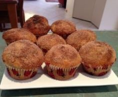 Thermomix Recipe Doughnut Muffins by ejwarner - Recipe of category Baking - sweet Thermomix Desserts, No Bake Desserts, Muffin Recipes, Cake Recipes, Cheddarwurst Recipe, Recipe Ideas, Spagetti Recipe, Doughnut Muffins, Fairy Cakes