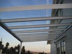 Glasstak på overbygg House Inspirations, Blinds, Pergola, Curtains, Home Decor, Houses, Patio, Decoration Home, Room Decor