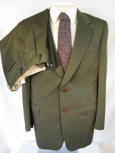 Vintage YVES SAINT LAURENT Wool 2pc Suit Jacket Blazer Pant  Coat Size 43 REG #YvesSaintLaurent #TwoButton