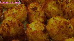 crocchette di patate al forno con cuore di scamorza e prosciutto cotto