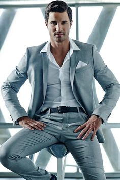 Anderson Davis - He would make the perfect Christian Grey in the movie!   He has my vote!