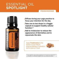 doterra frankincense uses