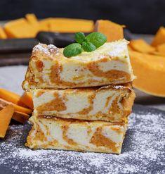 Sütőtökös, túrós süti - Recept | Femina Sweet Recipes, Cake Recipes, Vegetarian Recipes, Healthy Recipes, Baking And Pastry, Sweet Cakes, Creative Cakes, Queso, Food Porn
