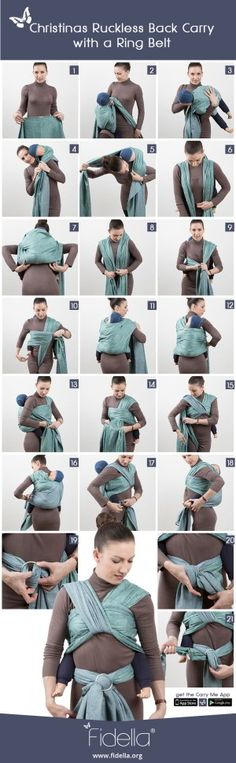 Look how cool is this instruction. https://fidella.org/en/instruction-christinas-ruckless-back-carry-with-ring-belt