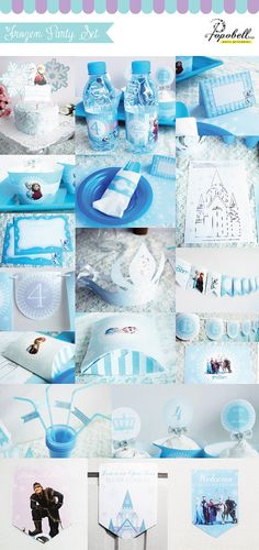 Frozen Party Kit. Complete Set Party Printables. DIY by Popobell