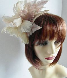 Mink Colour, Color, Royal Garden, Ostrich Feathers, Race Day, Fascinators, Ladies Day, Hair Band, Mother Of The Bride