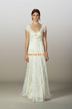 Vår 2014 Spets Blomma (or) Bröllopsklänningar 2014