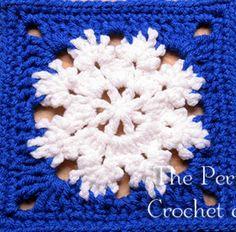 Snowflake Square http://theperfectknotcrochetandmore.blogspot.ro/2014/12/winter-bliss-square-crochet-pattern.html?m=1