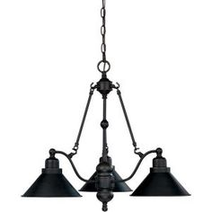 Bridgeview Mission dust bronze 3-Light Chandelier-HD-1701 at The Home Depot