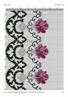 Cross Stitch Borders, Cross Stitch Designs, Cross Stitch Patterns, Dining Room Colors, Rose Bouquet, Blackwork, Needlepoint, Diy And Crafts, Kids Rugs