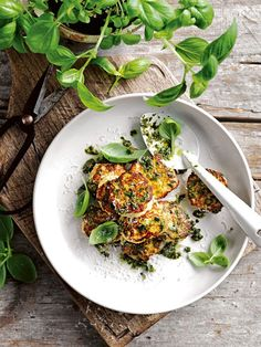 ricotta and parmesan fritters with pesto from donna hay magazine Fast issue #88