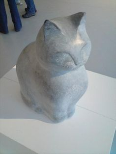 Kilkenny Limestone, carved stone cat sculpture