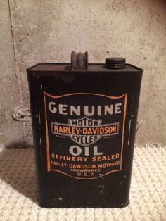"Very Rare! Vintage  Harley Davidson 10"" Oil Can."