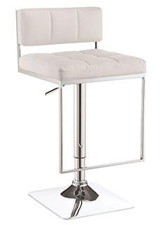 Coaster Home Furnishings Coaster 100193 Adjustable bar Stool, White ** Read more at the image link. (This is an affiliate link) #KitchenTableIdeas