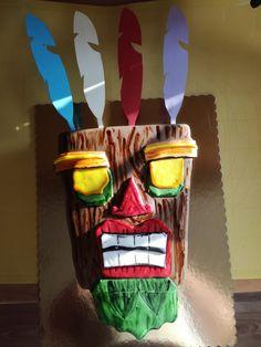 Cake Crash Bandicoot mask