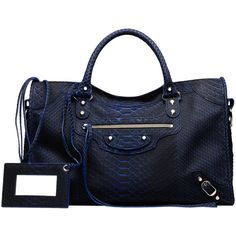 Balenciaga Classic City Python ($4,350) ❤ liked on Polyvore featuring bags, handbags, python purse, python bag, shoulder bag purse, snake print bag and hardware bag