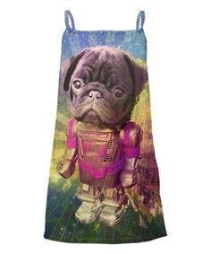 Fuchsia Pug Robot Sublimation Yoke Dress - Toddler & Girls #zulily…