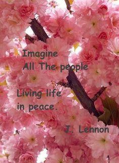 Citation de John Lennon sur le thème de la paix