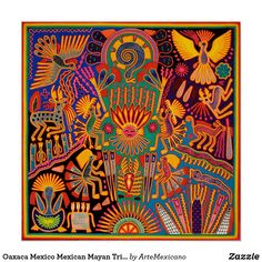 Pintura Tribal, Arte Tribal, Aztec Art, Mexican Artwork, Mexican Folk Art, Hispanic Art, Mexico Art, Folk Embroidery, Boho