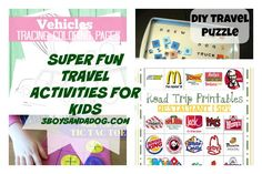 TRAVEL ACTIVITIES for kids - These road trip printable activities will keep your kids occupied for the long drive!